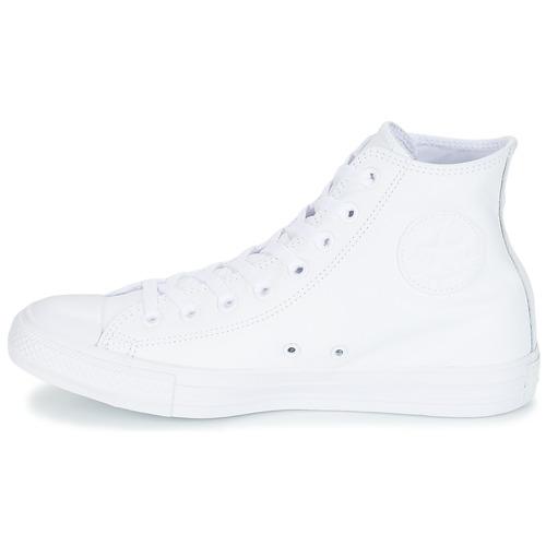 Converse STAR ALL STAR Converse MONOCHROME CUIR HI Weiss Schuhe Sneaker High 84,99 7e0c8f