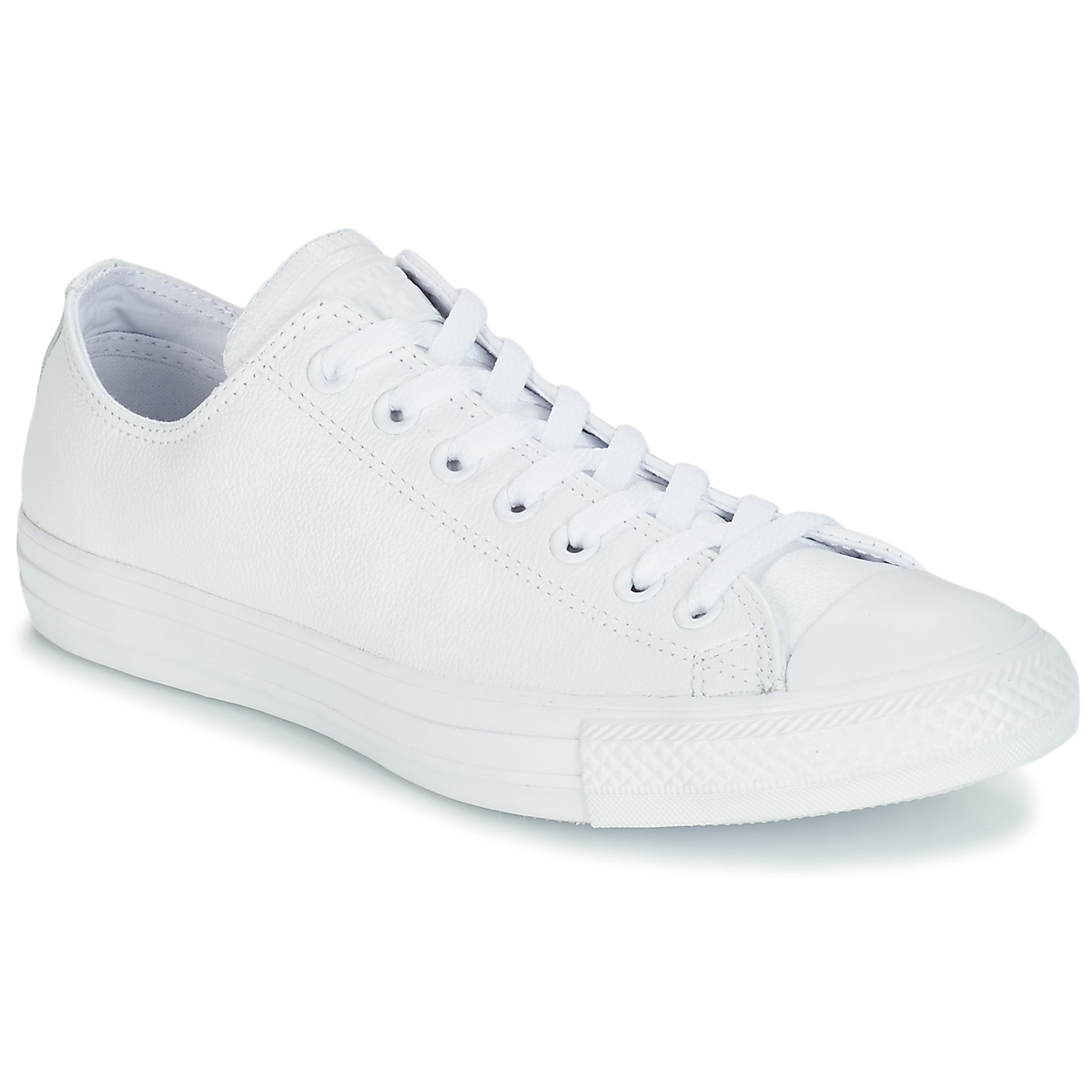 Converse ALL STAR MONOCHROME CUIR OX Weiss - Kostenloser Versand bei Spartoode ! - Schuhe Sneaker Low  67,99 €