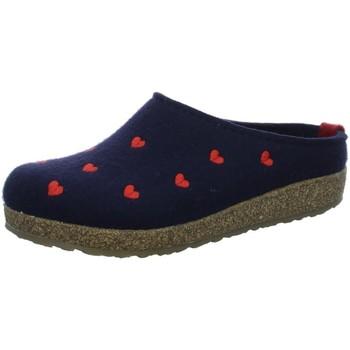 Schuhe Herren Hausschuhe Haflinger Grizzly Cuoricino 741031-070 blau