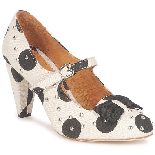Maloles CLARITA Weiss / Schwarz Schuhe Pumps Damen 132,50