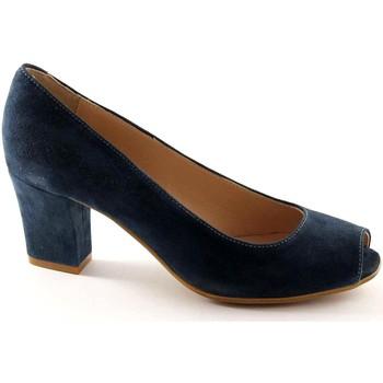 Schuhe Damen Pumps Grunland GRÜNLAND BEND SC1142 königlichen Wildlederschuhe Frau tauchte de Blu
