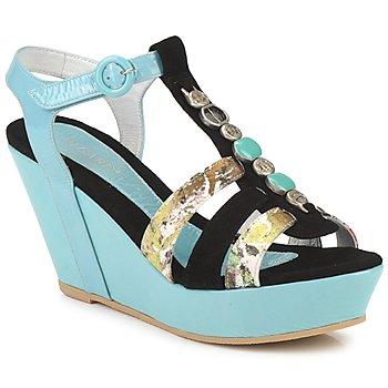 Schuhe Damen Sandalen / Sandaletten Regard RAFAVO Schwarz / Blau