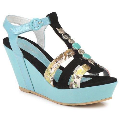 Regard RAFAVO Schwarz / Blau  Schuhe Sandalen / Sandaletten Damen 119,20