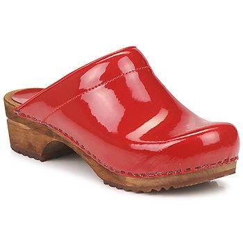 Schuhe Damen Pantoletten / Clogs Sanita CLASSIC PATENT Rot
