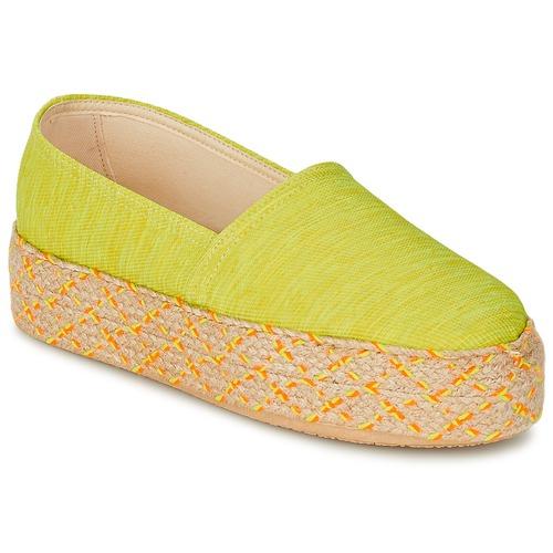 Schuhe Damen Leinen-Pantoletten mit gefloch Betty London TROOPIKA Gelb
