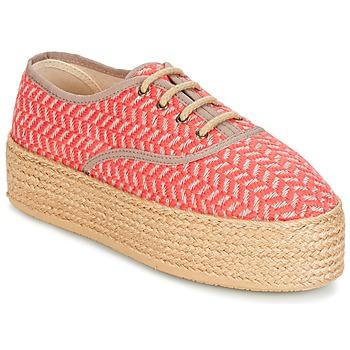 Schuhe Damen Leinen-Pantoletten mit gefloch Betty London CHAMPIOLA Korallenrot