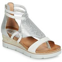 Schuhe Damen Sandalen / Sandaletten Mjus TAPASITA Weiss / Silbern