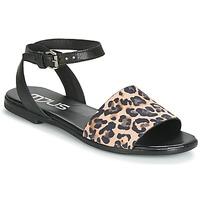Schuhe Damen Sandalen / Sandaletten Mjus CHAT LEO Schwarz / Leopard