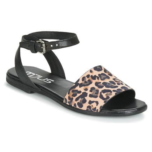 Mjus CHAT LEO Schwarz / Leopard  Schuhe Sandalen / Sandaletten Damen