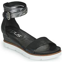Schuhe Damen Sandalen / Sandaletten Mjus TAPASITA Schwarz / Silbern