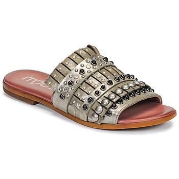Schuhe Damen Pantoffel Mjus CHAT MULE Kaki / Mettalfarben