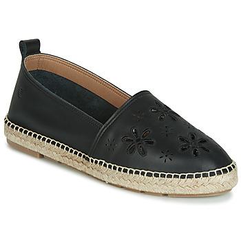 Schuhe Damen Leinen-Pantoletten mit gefloch Betty London JAKIKA Schwarz
