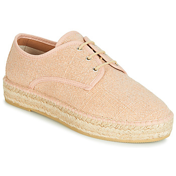 Schuhe Damen Leinen-Pantoletten mit gefloch Betty London JAKIKO Rose