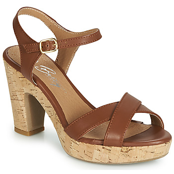 Schuhe Damen Sandalen / Sandaletten Betty London JIKOTIK Camel