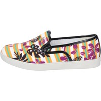Schuhe Damen Slip on Liu Jo slip on multicolor textil BT445 multicolor