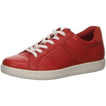 Schuhe Damen Sneaker Low Ecco Schnuerschuhe Komfort Schnürhalbschuh Soft 1 W 400703 51389 rot