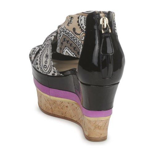 Etro 3467  Grau   Schwarz   lilat  3467 Schuhe Sandalen   Sandaletten Damen ea2727