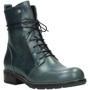 Schuhe Damen Boots Wolky Stiefeletten Murray Graca leather Metal 0443230283 blau