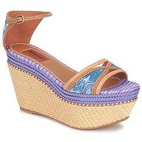 Schuhe Damen Sandalen / Sandaletten Missoni TM26 Blau / Braun