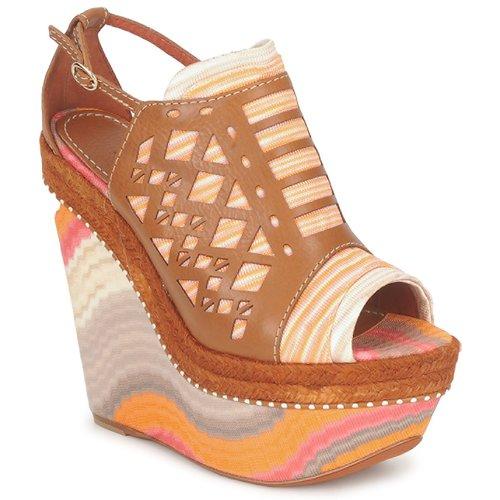 Schuhe Damen Sandalen / Sandaletten Missoni TM22 Braun / Orange