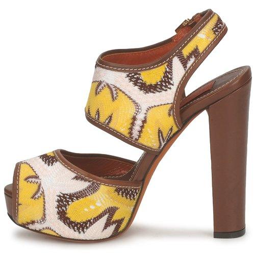 Missoni / TM81 Braun / Beige / Missoni Gelb  Schuhe Sandalen / Sandaletten Damen 370,30 0235a2