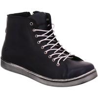 Schuhe Damen Sneaker High Andrea Conti Schnuerschuhe 0341500 017 d. blau