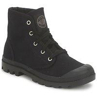 Schuhe Damen Boots Palladium US PAMPA HI Schwarz