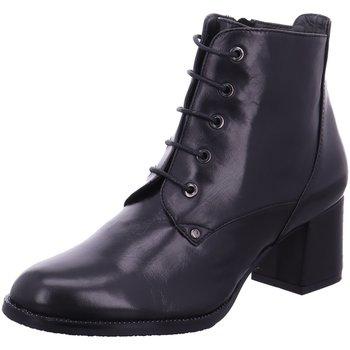 Schuhe Damen Stiefel Everybody Stiefeletten Stiefelette mit ausgestelltem Absatz 11755-5309 schwarz