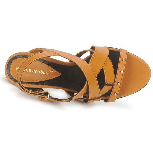 Karine / Arabian DOLORES Safran-schwarz  Schuhe Sandalen / Karine Sandaletten Damen 372 309b52