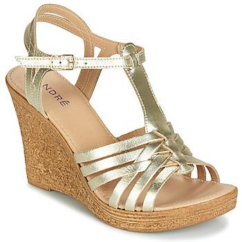 Schuhe Damen Sandalen / Sandaletten André FABULEUSE Goldfarben