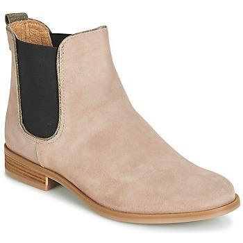 Schuhe Damen Boots André RIDER Beige