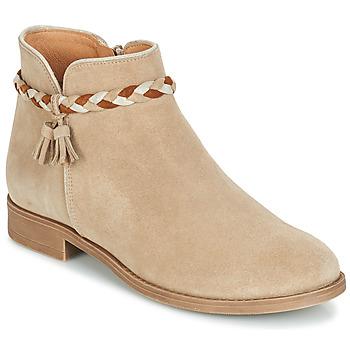 Schuhe Damen Boots André RAVIE Beige