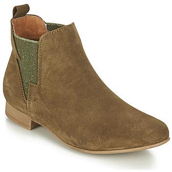 Schuhe Damen Boots André ROCKA Kaki