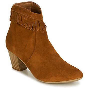Schuhe Damen Low Boots André RILAN Cognac