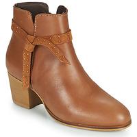 Schuhe Damen Low Boots André ROMANE Cognac