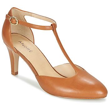 Schuhe Damen Pumps André FALBALA Camel
