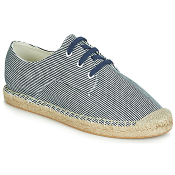 Schuhe Damen Leinen-Pantoletten mit gefloch André SYBILLE Blau
