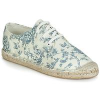 Schuhe Damen Leinen-Pantoletten mit gefloch André SYBILLE Naturfarben