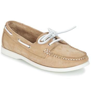 Schuhe Damen Bootsschuhe André CATBOAT Beige