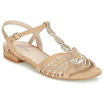 Schuhe Damen Sandalen / Sandaletten André CALLISTO Beige / Gold