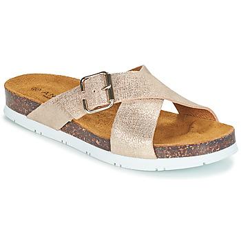 Schuhe Damen Pantoffel André RICKA Gold