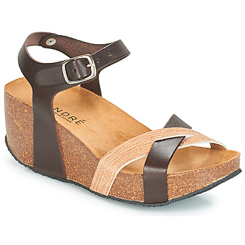 Schuhe Damen Sandalen / Sandaletten André HERA Braun