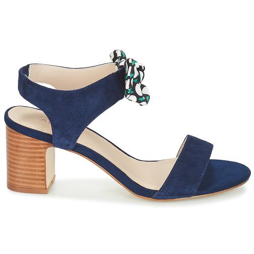 André Supens Blau - Schuhe Sandalen / Sandaletten Damen 5519