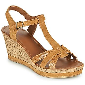 Schuhe Damen Sandalen / Sandaletten André ALOE Camel