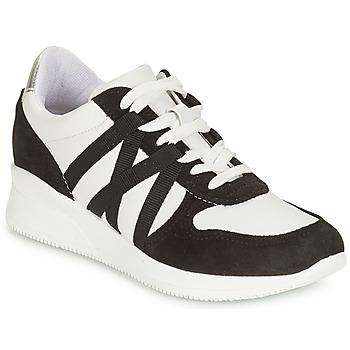 Schuhe Damen Sneaker Low André ALLURE Schwarz / Weiss