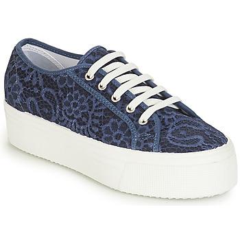 Schuhe Damen Sneaker Low André SODA Blau