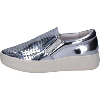 Schuhe Damen Slip on Uma Parker slip on silber leder BT564 silber