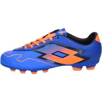 Schuhe Herren Fußballschuhe Lotto sneakers blau leder orange BT586 blau