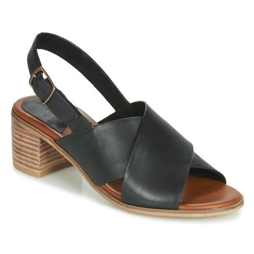 Kickers VICTORIANE Schwarz  Schuhe Sandalen / Sandaletten Damen