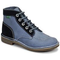 Schuhe Damen Boots Kickers KICK COL Blau